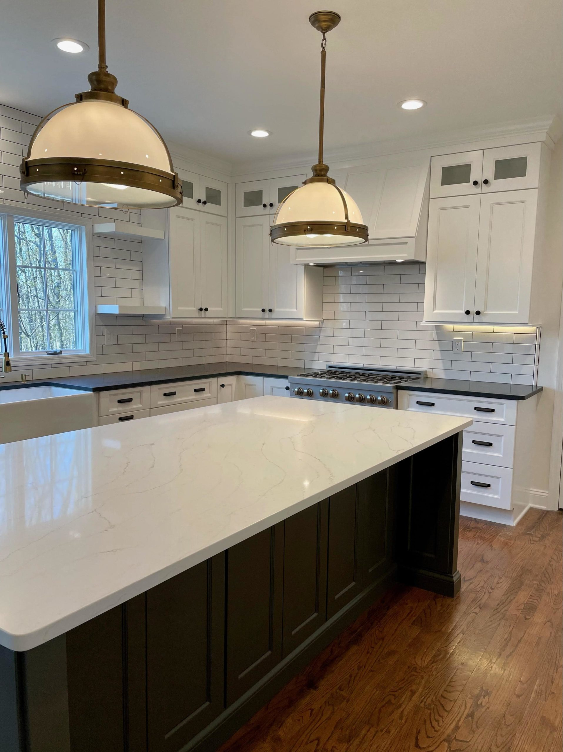 Farmhouse Transitional Kitchen Remodel Project in Long Valley, NJ