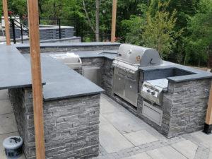 Steel Gray Granite Outdoor Kitchen Remodel Chatham, NJ