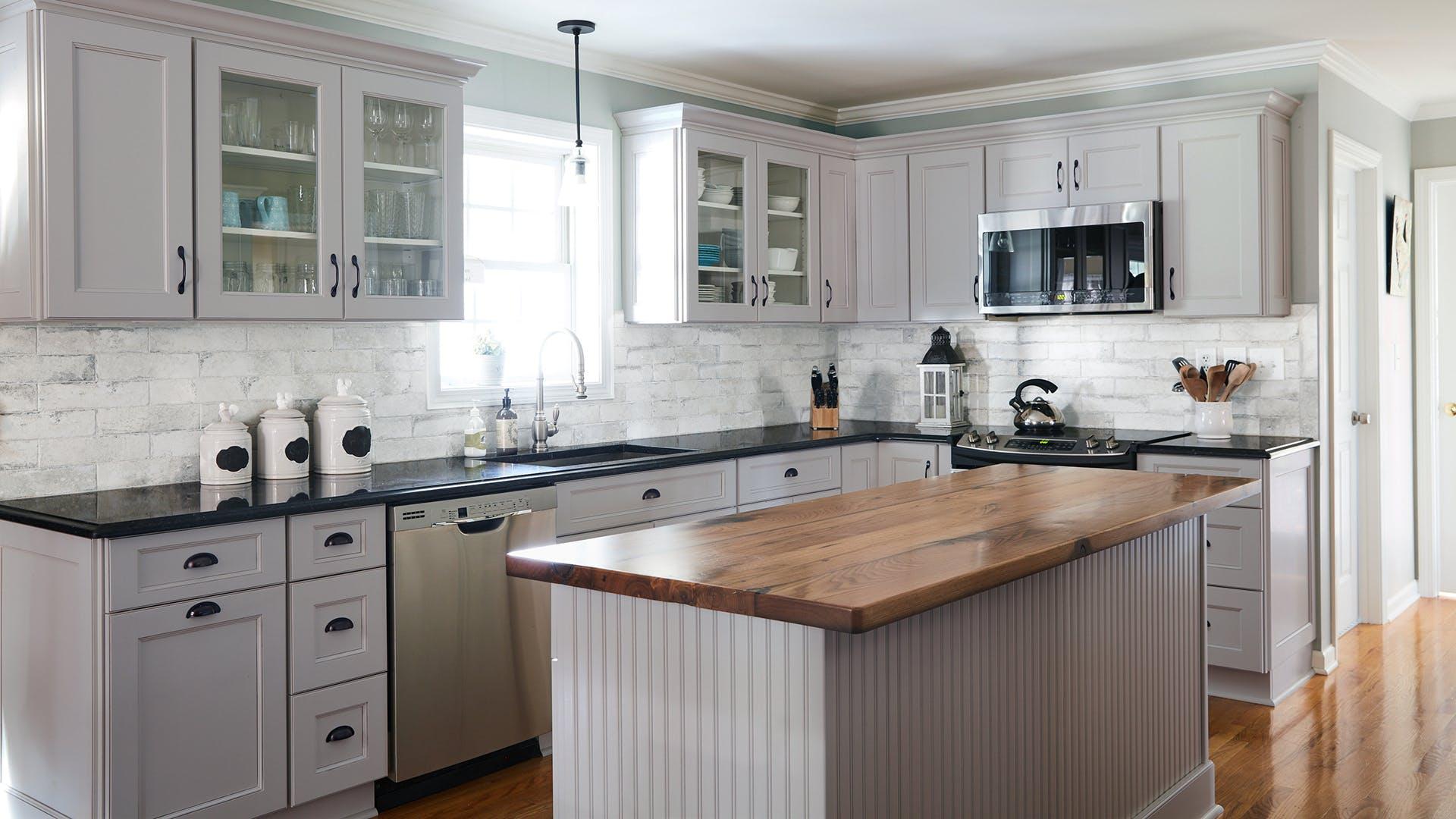 Fabuwood Fusion Nickel Kitchen Cabinets
