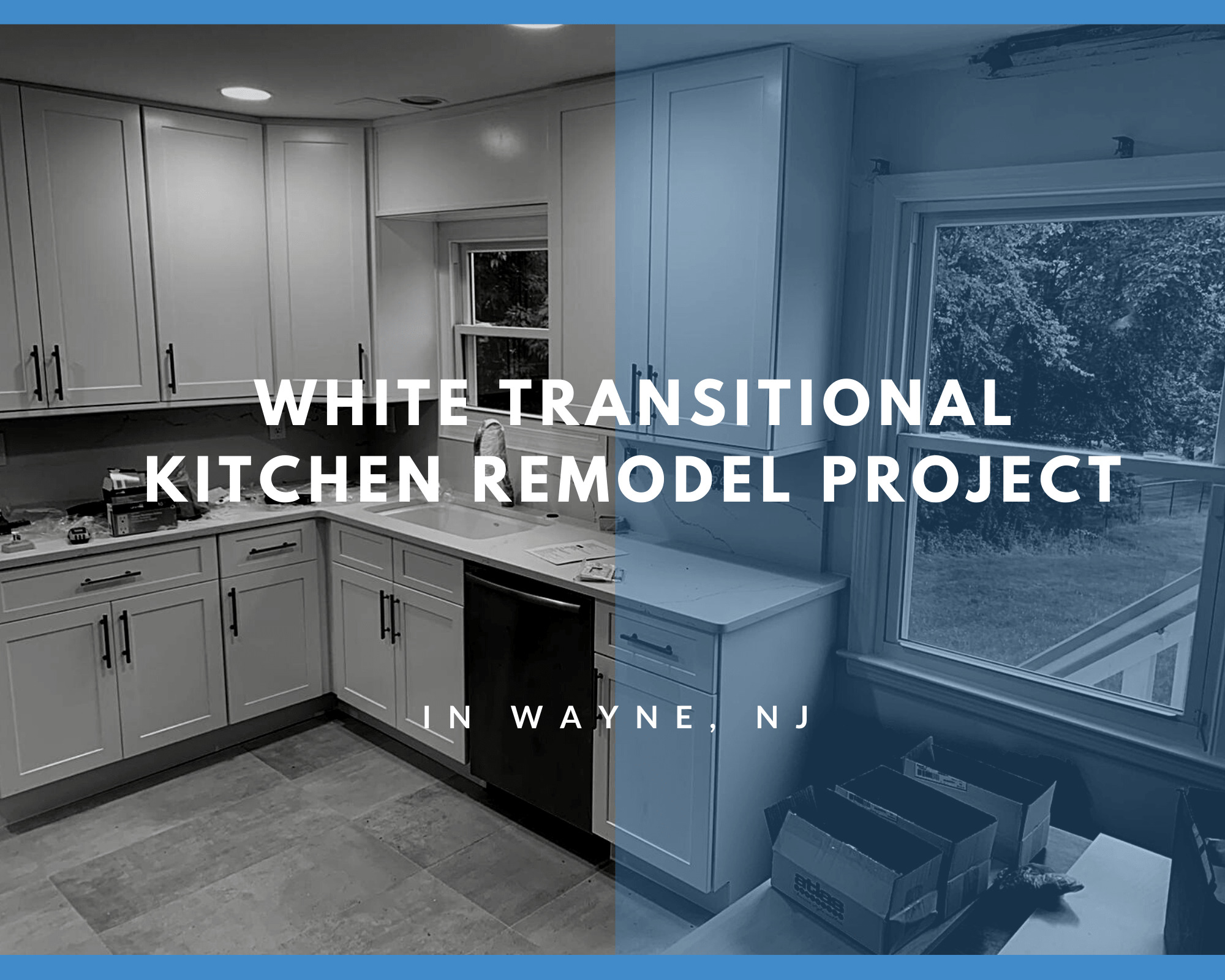 White Transitional Kitchen Remodel Project Reveal in Wayne, NJ