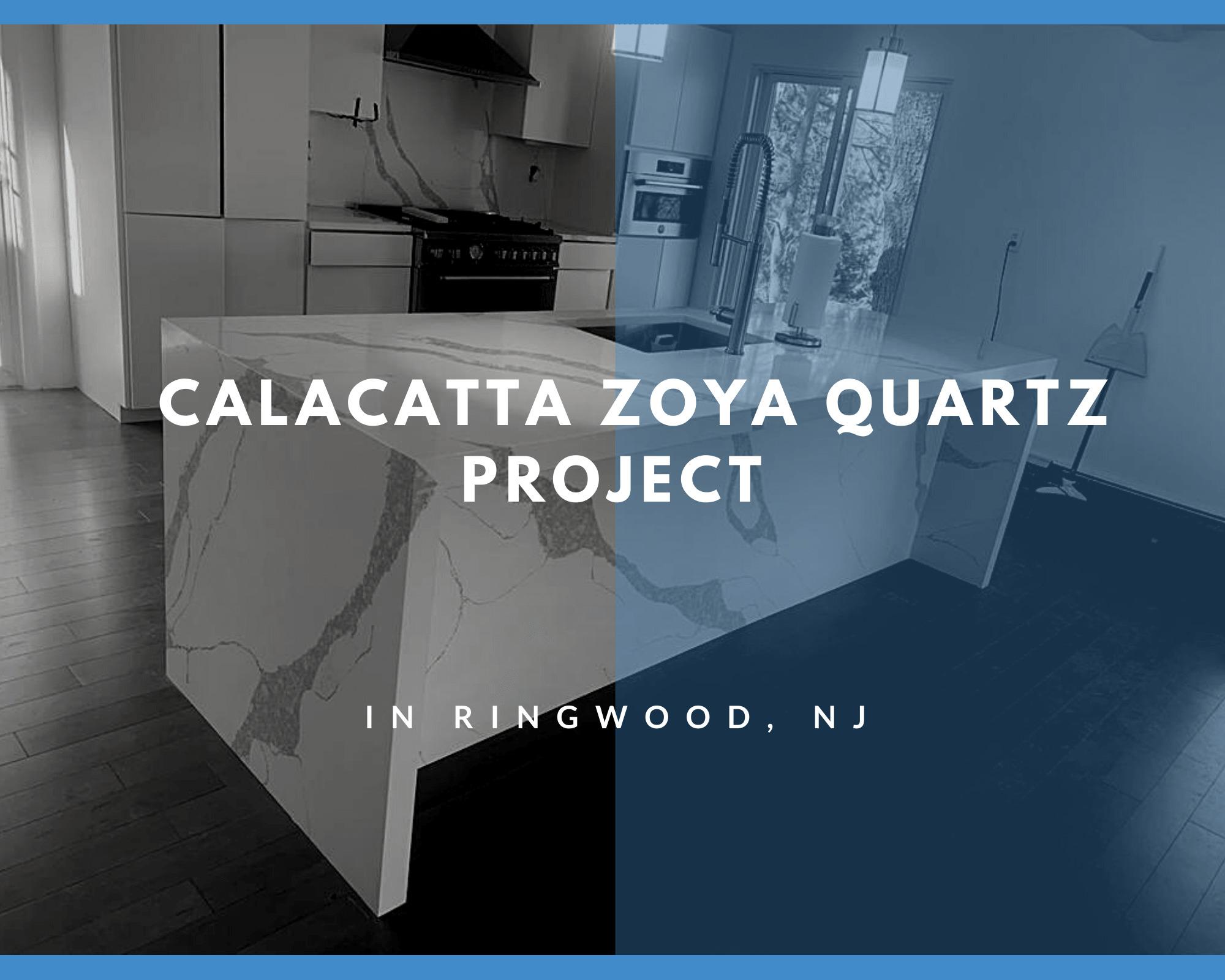 Calacatta Zoya Quartz Project in Ringwood, NJ