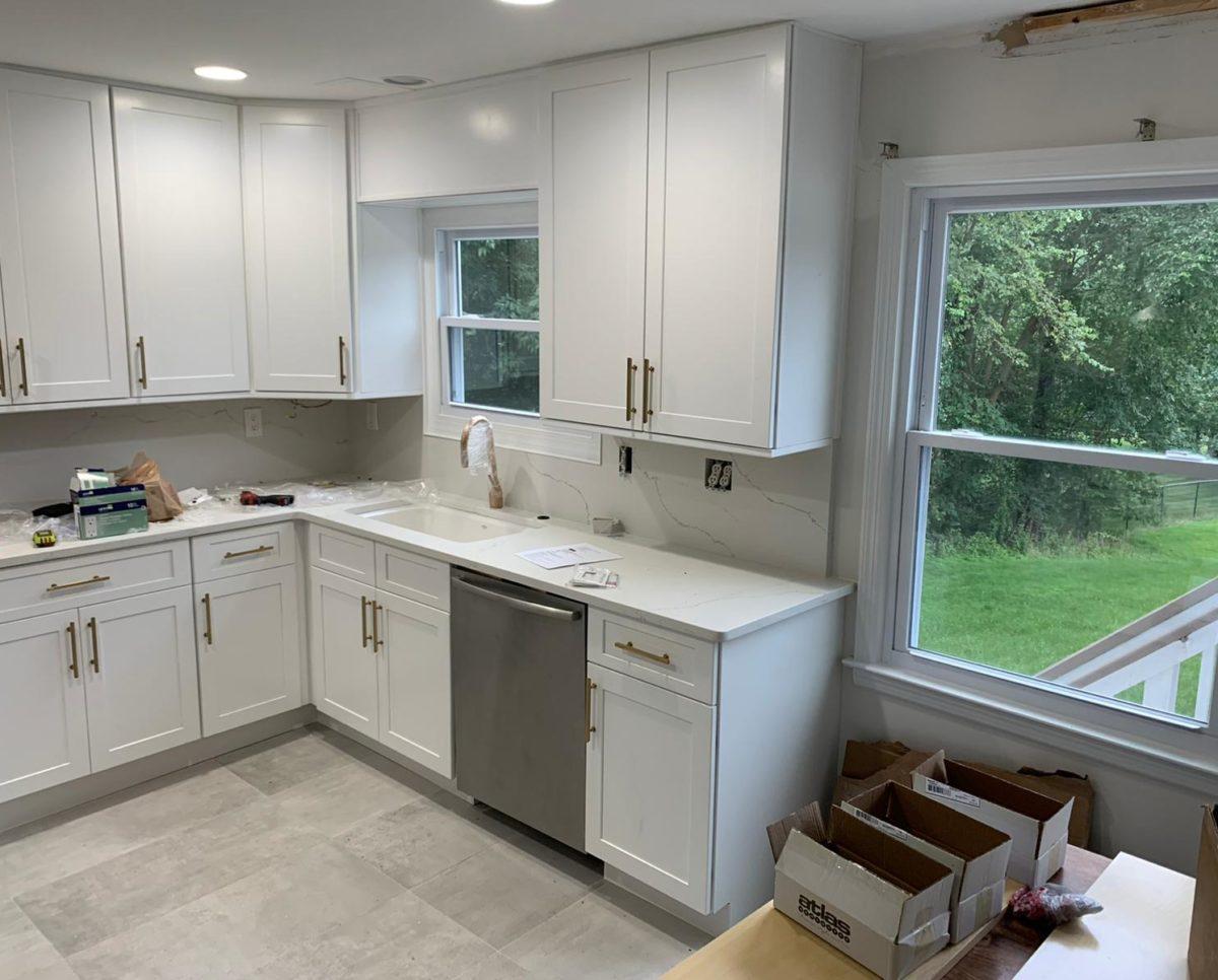 Calacatta Trento Quartz Countertops Kitchen Renovation Project