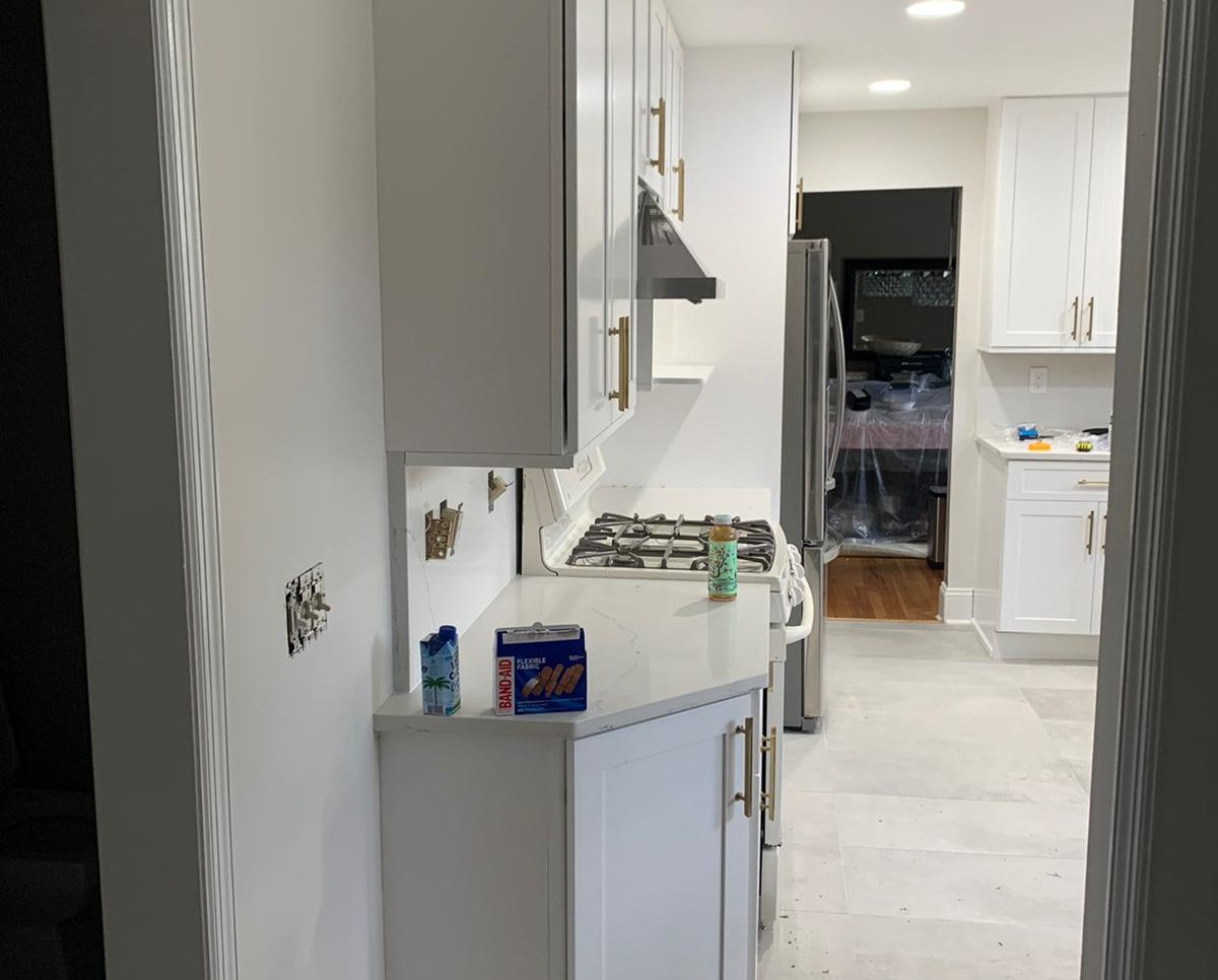 Galaxy Frost Cabinets Kitchen Remodeling Project