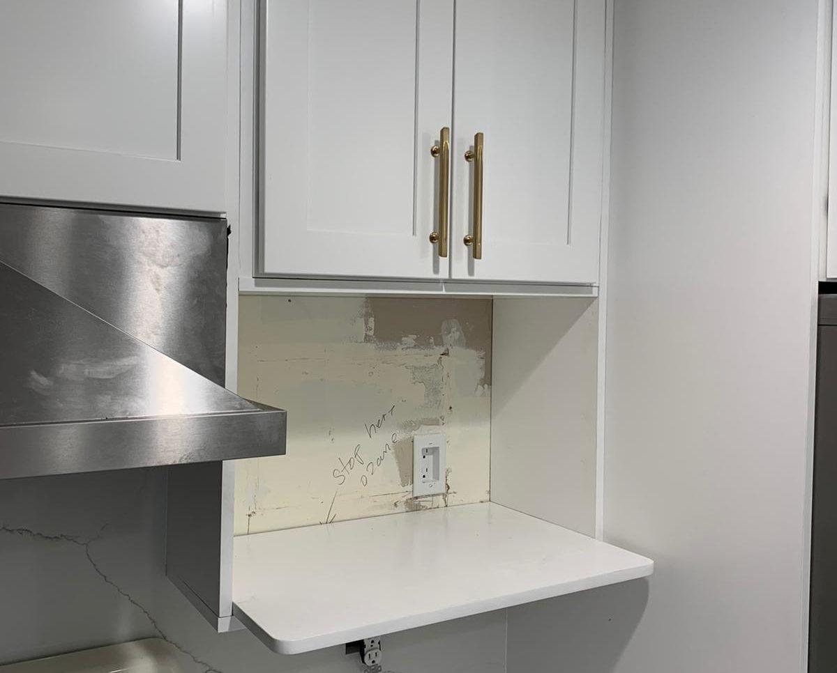 White kitchen renovation project Wayne NJ
